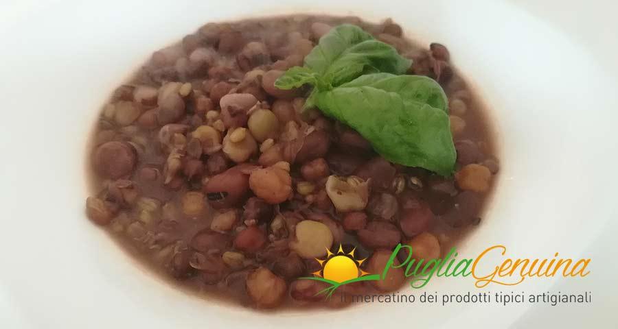 Zuppa di legumi e grano